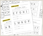 Cut and Paste Kindergarten Reading Worksheets