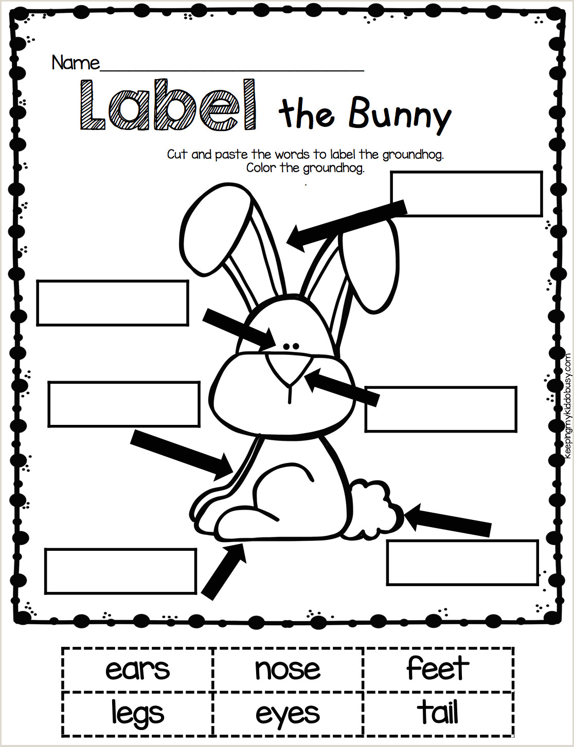 Cut and Paste Kindergarten Worksheets