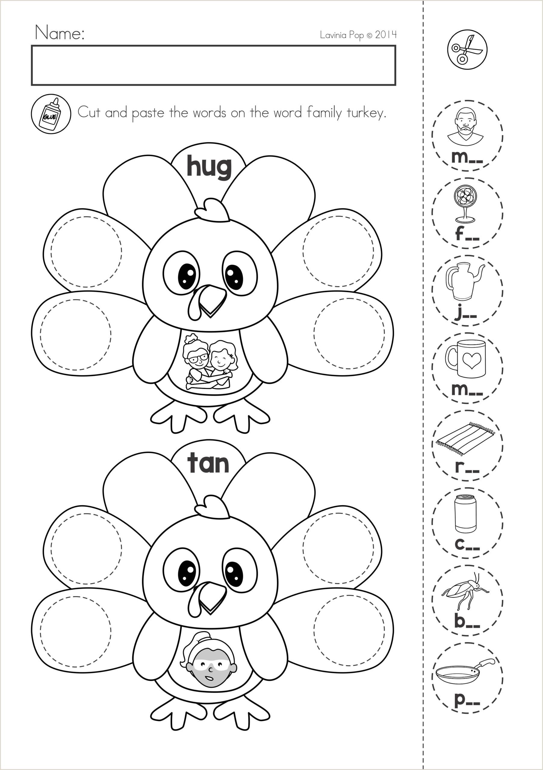 Cut And Paste Reading Worksheets For Kindergarten