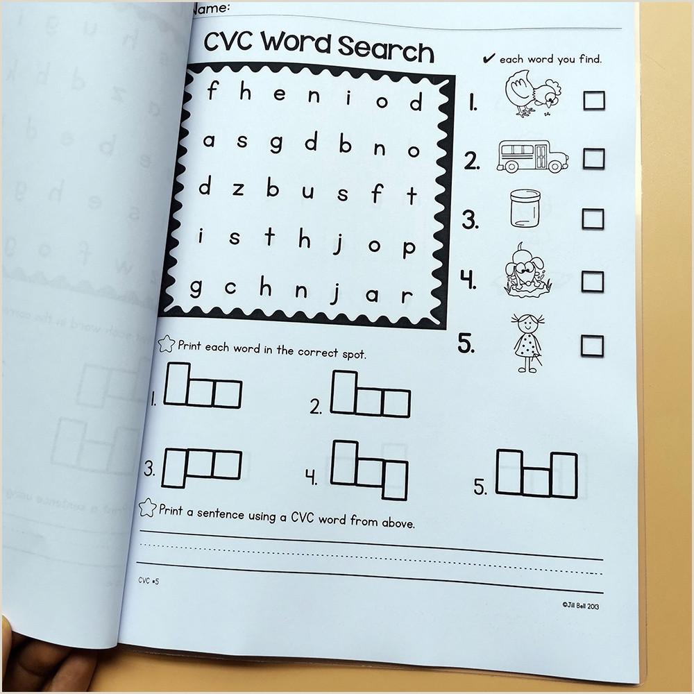 Cvc Reading Comprehension Worksheets For Kindergarten