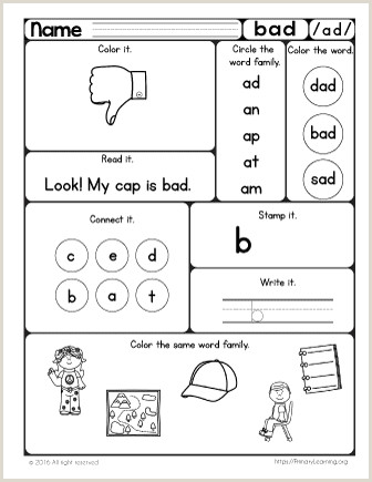 Cvc Reading Worksheets For Kindergarten