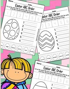 Easter Abc Worksheets