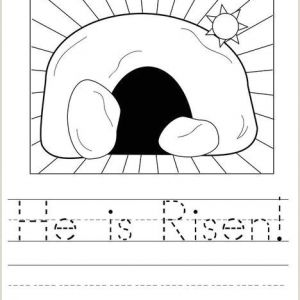 Easter Activity Worksheets for Preschoolers