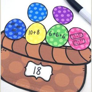 Easter Addition Worksheets for First Grade