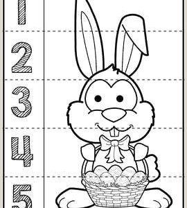 Easter Basket Worksheets Preschool