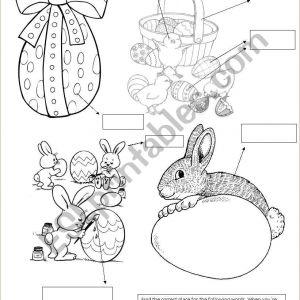 Easter Bunny Worksheets Printables