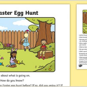 Easter Egg Hunt Printable Worksheets