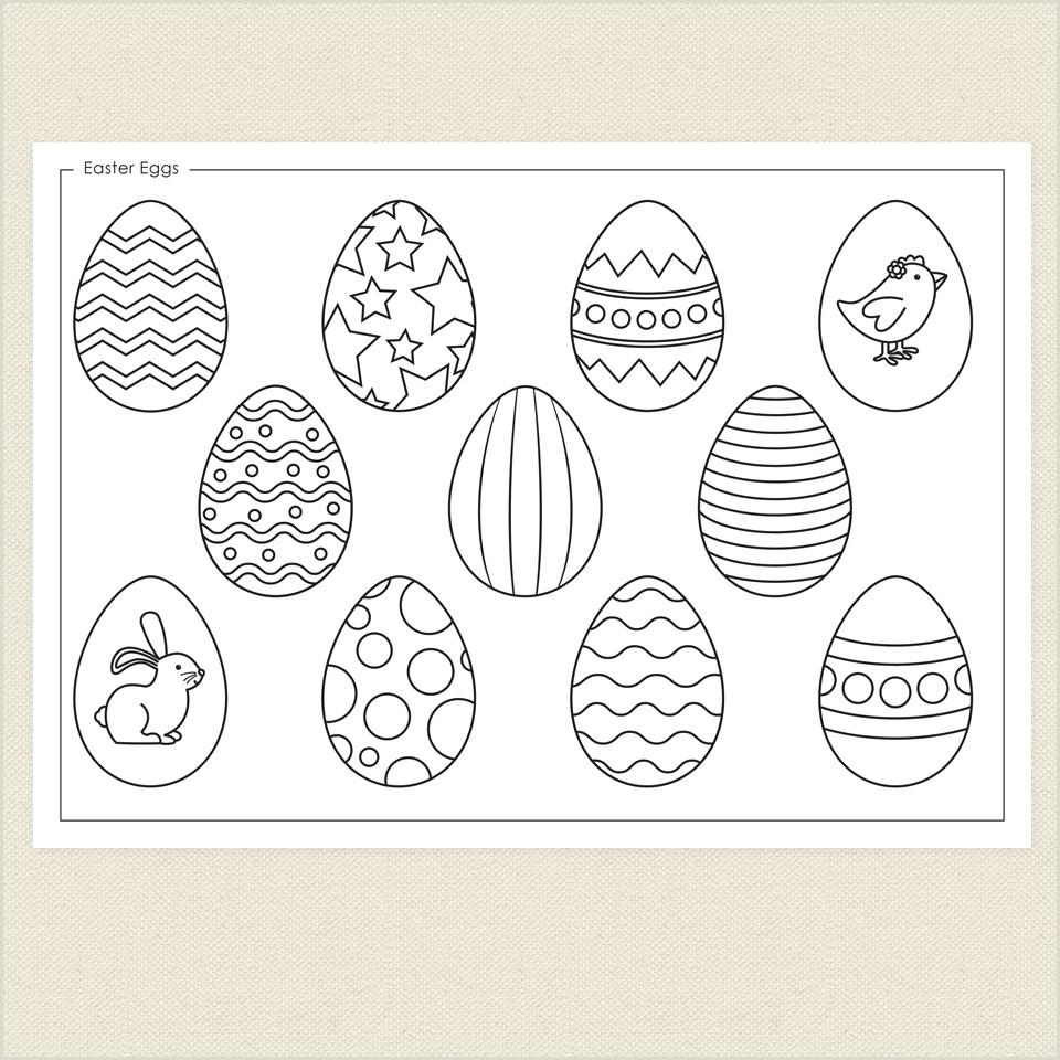 Easter Egg Number Worksheets