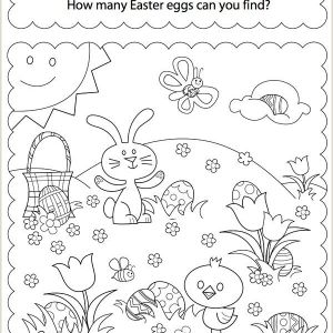 Easter Egg Preschool Worksheets