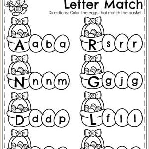 Easter Eggs Worksheets Preschool