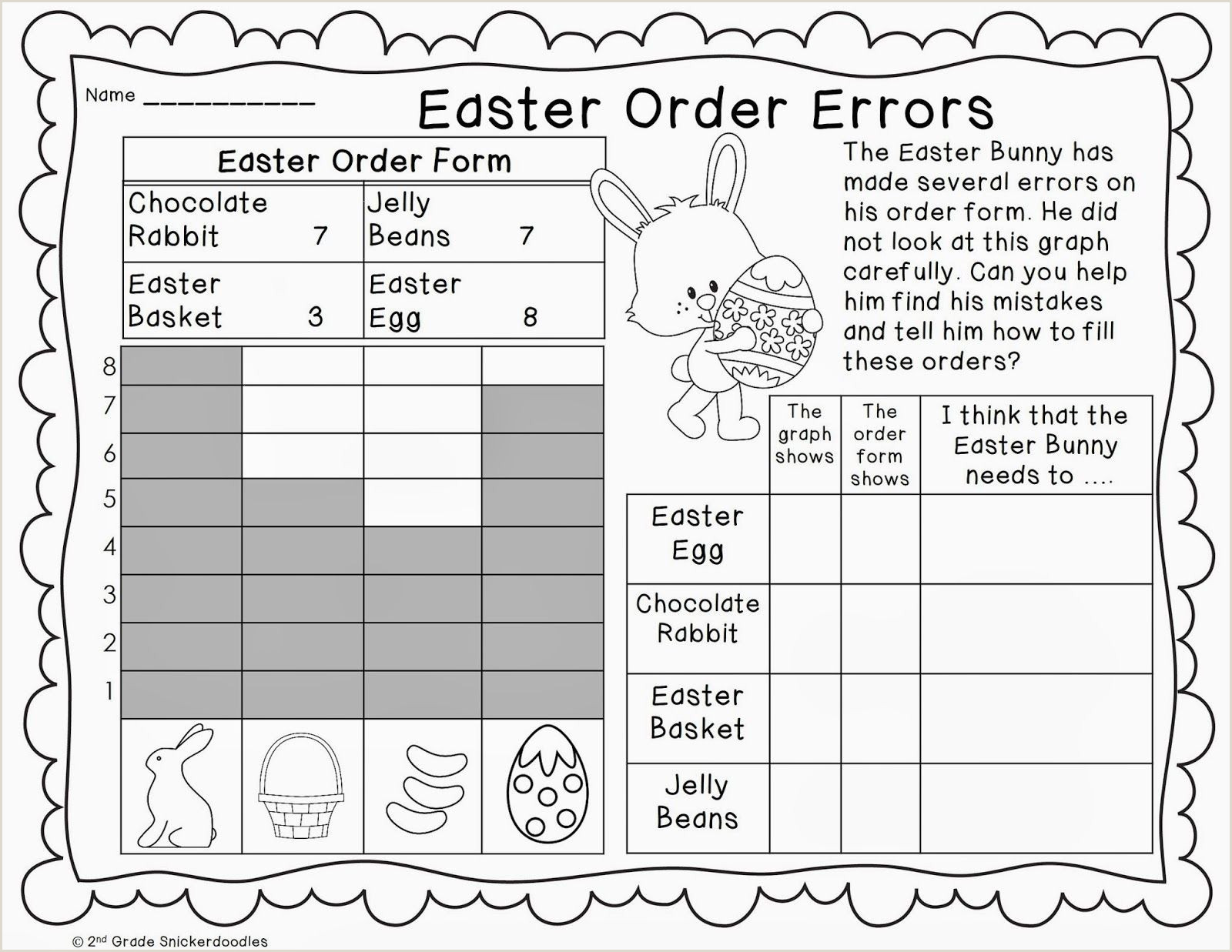 Easter Graphing Worksheets