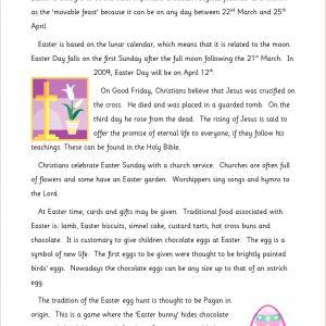 Easter Homework Ks2
