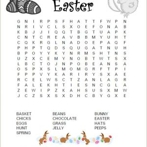 Easter Language Worksheets