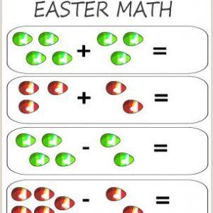Easter Math Worksheets Printable