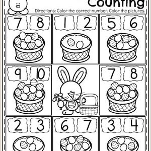 Easter Maths Activity Worksheets