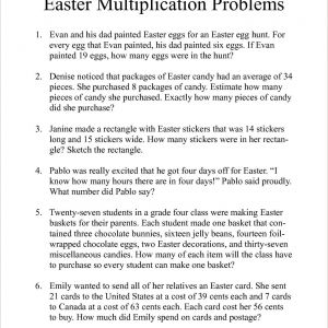 Easter Multiplication Worksheets