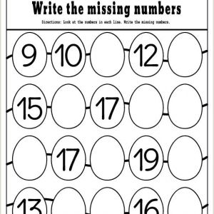 Easter Number Worksheets