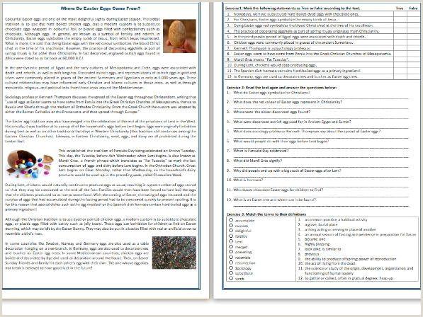 Easter Printable Worksheets Preschool