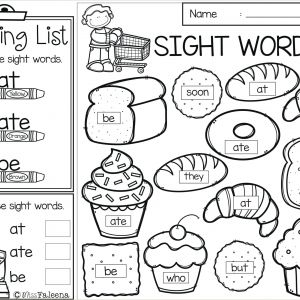 Easter Sight Words Worksheets