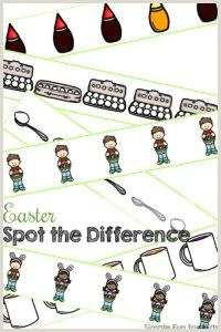 Easter Spot the Difference Worksheets