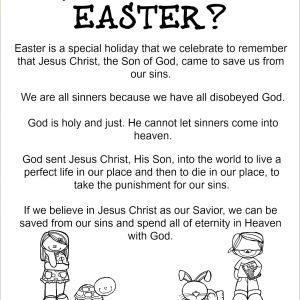 Easter Story Worksheets Printable