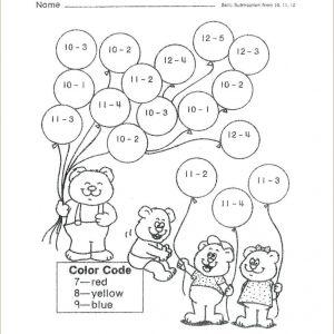 Easter Subtraction Worksheets First Grade