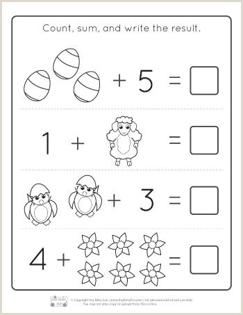 Easter Subtraction Worksheets for Kindergarten