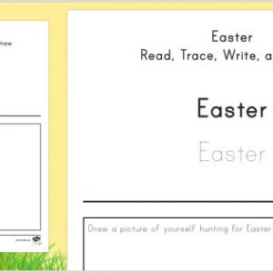 Easter Tracing Worksheets