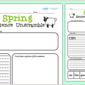 Easter Unscramble Worksheets