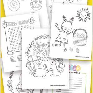Easter Word Scramble Printable Worksheets