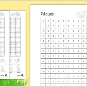 Easter Word Search Printable Worksheets