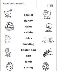 Easter Worksheet Anglomaniacy