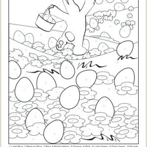 Easter Worksheets Colour by Number
