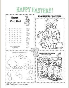 Easter Worksheets for Intermediate Students