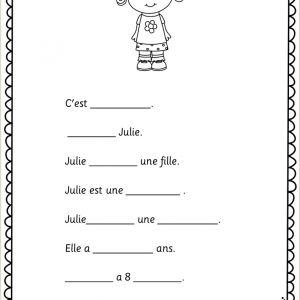 Easter Worksheets In French