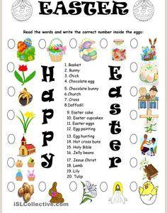 Easter Worksheets isl