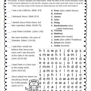 Easter Worksheets Jesus