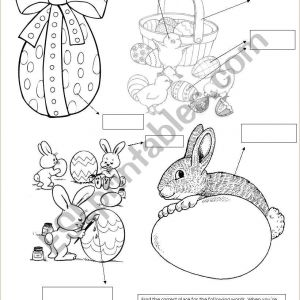 Easter Worksheets Pdf Esl