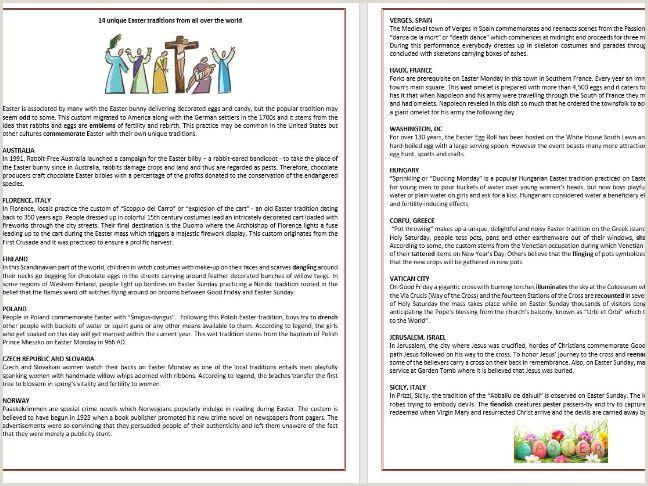 Easter Worksheets Twinkl