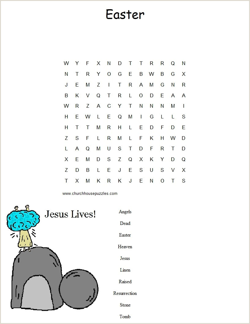 Easter Worksheets Word Search