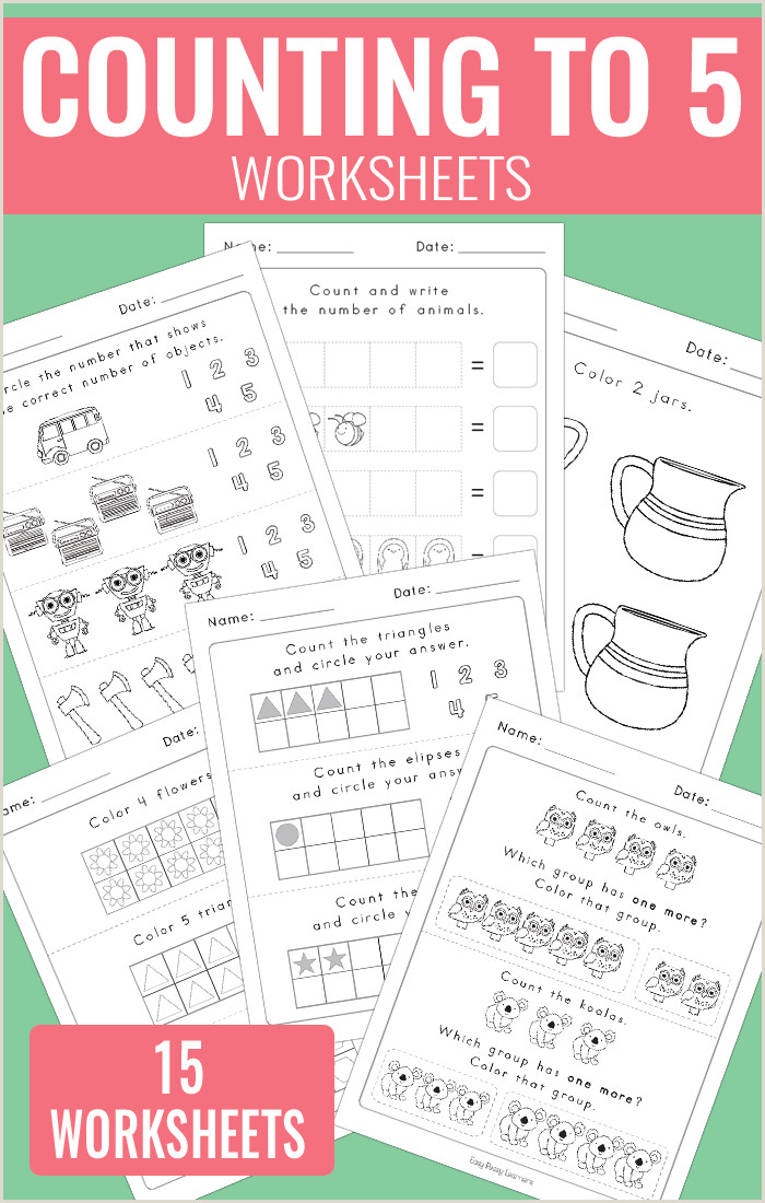 Easy Color By Number Worksheets Kindergarten