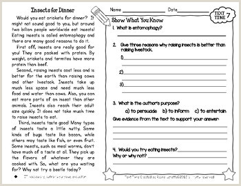 Easy Reading Comprehension Worksheets For Kindergarten