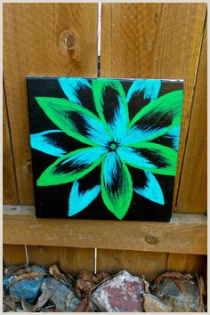 Easy Things to Paint with A Black Background