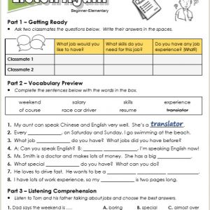 English Reading Worksheets for Kindergarten Pdf