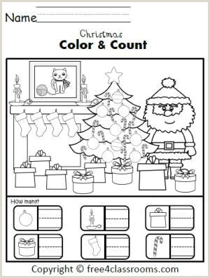 Free Christmas Color By Number Printables For Kindergarten