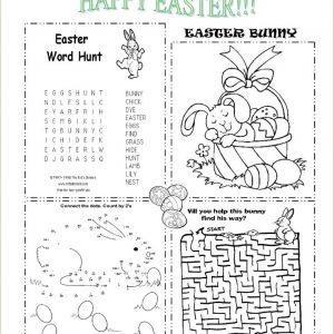 Free Color by Number Easter Worksheets