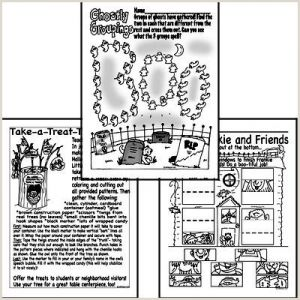 Free Color by Number Holiday Worksheets