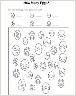 Free Easter Math Worksheets For Kindergarten