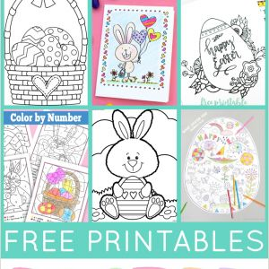 Free Easter Worksheets Color by Number
