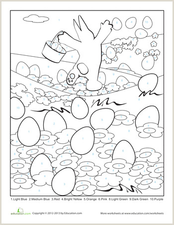 Free Easy Color By Number Worksheets
